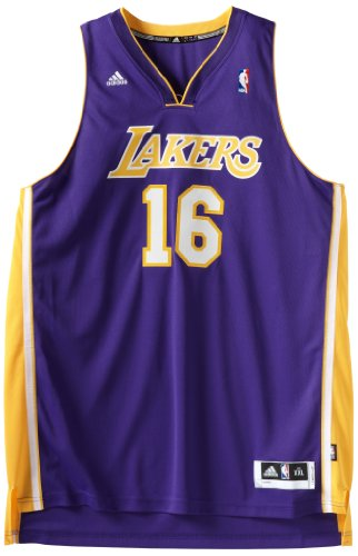 Pau Gasol Purple adidas Revolution 30 Swingman Los Angeles Lakers Jersey