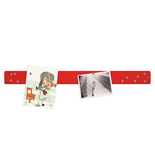 Three By Three Seattle Magnetic Strip Bulletin Board, Red by Three by Three (Image #2)