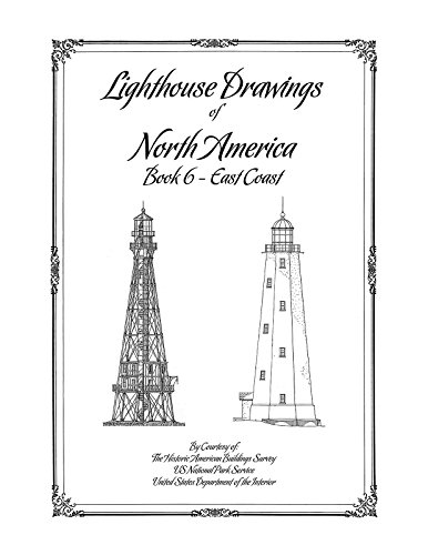 (Lighthouse Drawings of North America, Book 6, East Coast)