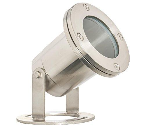 (Westgate Lighting LED Underwater Light-Warm White Underwater Light-Stainless Steel Housing Landscape Light- 3 Year Warranty (Stainless Steel))
