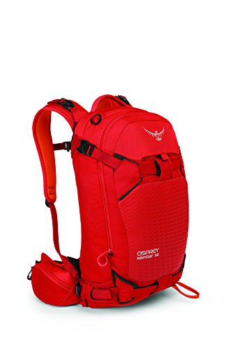 (Osprey Packs Men's Kamber 32 Ski Pack, Ripcord Red, Small/Medium)