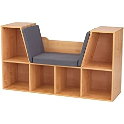 KidKraft Bookcase with Reading Nook Toy, Natural