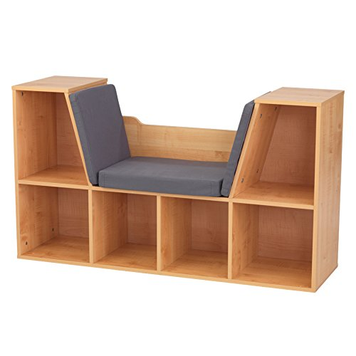 KidKraft Bookcase with Reading Nook Toy, Natural ()