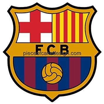 Logo Cake Decoration - 1/4 Sheet ~ FC Barcelona Logo Birthday ~ Edible Cake/Cupcake Topper!!!