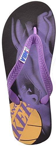 NBA Men's Flip Flops Black Black/Purple hJkWVo