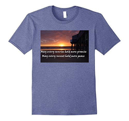 Mens Inspiring gift shirt old orchard beach pier sunrise Large Heather - Shops Orchard Old At