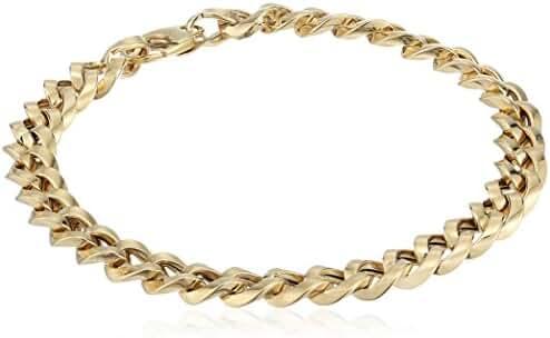 14k Yellow Gold Italian High Polished Link Bracelet, 7.5