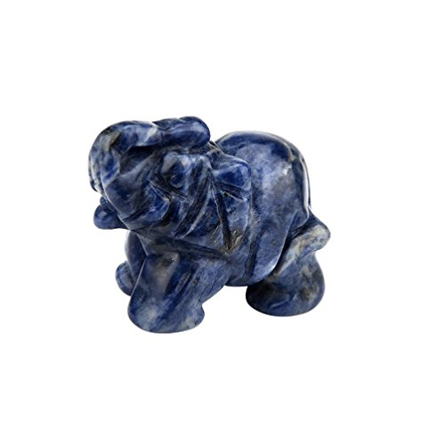 Yeefant 1Pcs Hand Carved Elephant Natural Jade Gemstone Ornament Craft Paperweight Decorations at Home Office Desk Display Cabinet, Symbol of Good Fortune and Power, 1.5x1.2x0.5 Inch