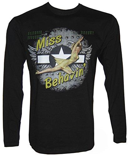 Pin-Up Retro Rockabilli Langarm T-Shirt