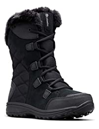 Columbia Women's Ice Maiden II Lace-Up Boot, Black/Columbia Grey, 8 M US
