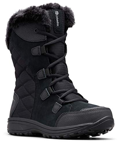 (Columbia Women's ICE Maiden II Snow Boot, Black, Grey, 8 B)