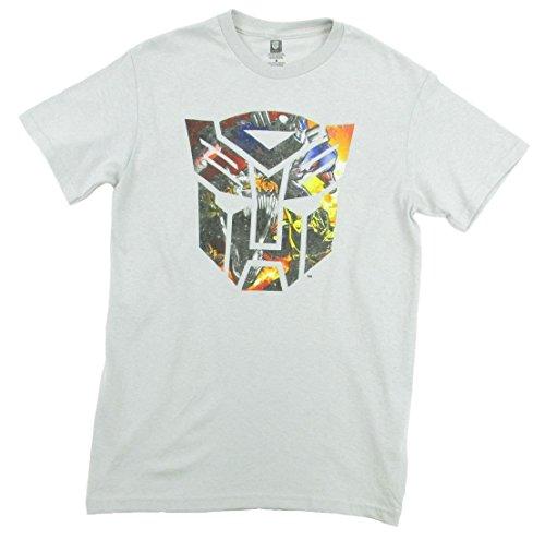 Transformers Men's Movie Autobot Action Logo T-Shirt, Sil...