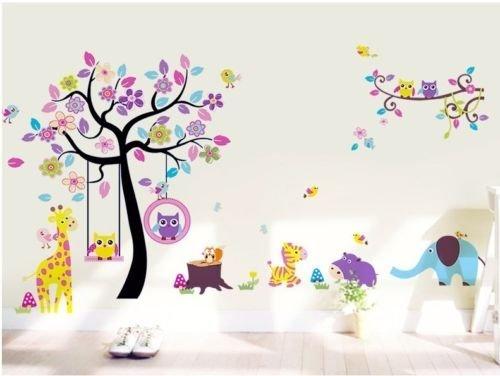Owls Jungle Animals Wooden Bedroom Furniture Kids: O'plaza ® Huge Size