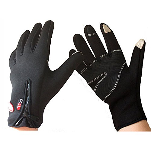 Windstopper Outdoor Sport Gloves For Men Women Warm Touch Screen Phone Gloves Cycling Hiking Gloves Tactical Mittens Gloves Winter Military Motorcycle Skiing Full Finger Gloves Medium