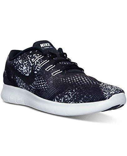 Nike Men's Shoes Free RN Print Running Sneakers Black White (12 M - Returns Free Nike