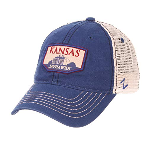 - Zephyr NCAA Kansas Jayhawks Men's Trademark Relaxed Cap, Adjustable, Washed Team/White