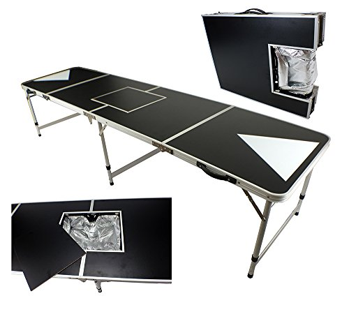 NEW 8' ICE BAG ICY CHEST COOLER BEER PONG TABLE ALUMINUM PORTABLE ADJUSTABLE FOLDING INDOOR OUTDOOR TAILGATE PARTY GAME SQUARE TRIANGLE #3 Las Vegas Steel Stool