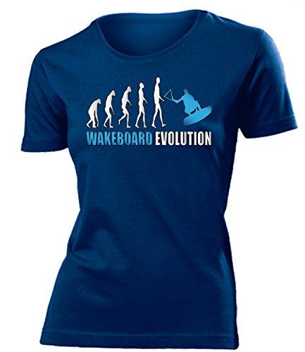 WASSERSPORT - WAKEBOARD EVOLUTION - mujer camiseta Tamaño S to XXL varios colores marina / Azul