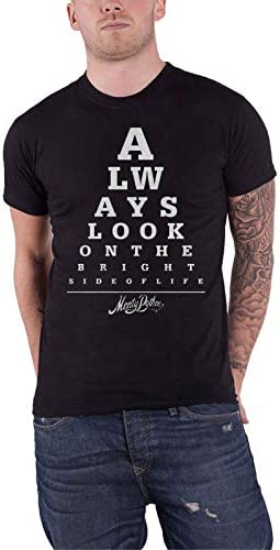 몬티 파이썬 T 셔츠는 항상 밝은 측면 눈 테스트에 봐 / Monty Python T Shirt Always Look On The Bright Side Eye Test 公式 メンズ