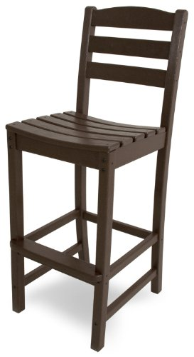 POLYWOOD TD102MA La Casa Café Bar Side Chair, Mahogany