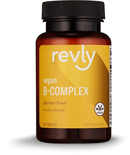 Amazon Brand – Revly Vegan B-Complex, Supports Immune and Normal Energy Metabolism, 60 Tablets, 1 Month Supply, Food-Cultured, Gluten Free