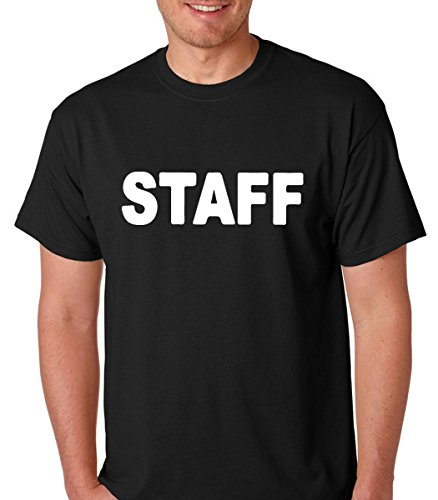 Staff Concert Party Event Festival Men's Short Sleeve Tshirt from Allure & Grace (MEDIUM, (Gay Halloween Party Seattle)