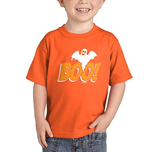 HAASE UNLIMITED Boo with Ghost - Halloween T-Shirt (Orange, 24 Months)