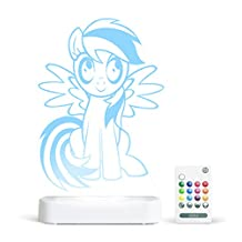 Aloka My Little Pony Rainbow Dash Starlight LED Light with Remote Control, Multi-Color Changing, 8 inch