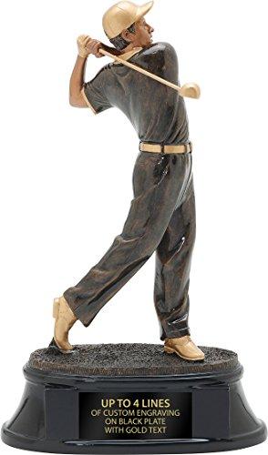 Power Male Resin Golf Trophy, 10