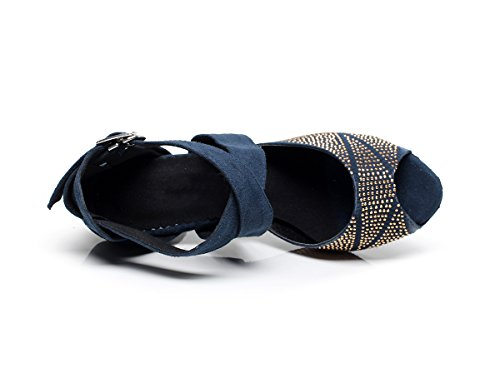mujer de danza Minitoo para Zapatillas Azul HIw55Aq