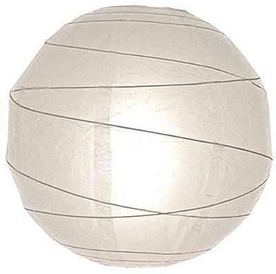 Round Paper Lantern, Crisscross Ribbing, Hanging