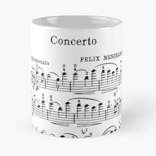 Gift Concerto Coffee (Violin Concerto Music Mendelssohn - Coffee Mugs Best Gift For Father Day)