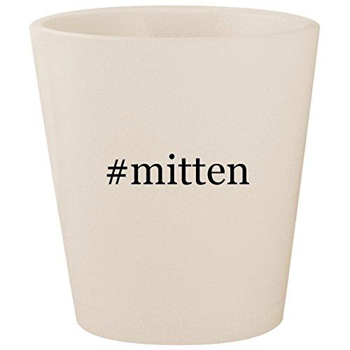 #mitten - White Hashtag Ceramic 1.5oz Shot (Hi 5 Fingerless Glove)