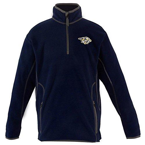 fan products of Nashville Predators YOUTH Unisex Ice Polar Fleece Pullover (Team Color: Navy) -