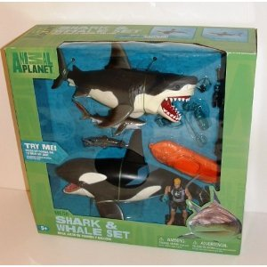 shark and whale playset - 8