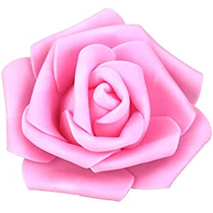 Lightingsky 3 x 1.6 x 3 inches DIY Real Touch 3D Artificial Foam Rose Head Without Stem for Wedding Party Home Decoration 7