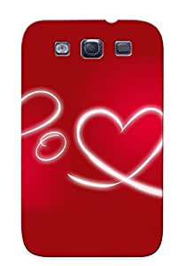 Defender Case For Galaxy S3, Red Love Pattern, Nice Case For Lover's Gift