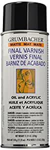 Grumbacher Picture Matte Varnish for Picture and Oil & Acrylic Painting, 11.25oz. Can