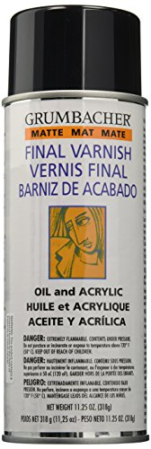 (Grumbacher 542 Picture Matte Varnish for Picture and Oil & Acrylic Painting, 11.25oz. Can)