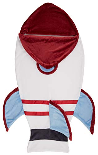 Manta de cola de forro polar para niños Amazon Basics, 26 x 56 pulgadas, Space Rocket