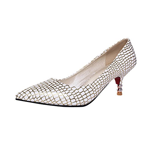 Fashion Pumps Gold Office Heel Kitten Foot Womens Lady Shoes Charm RqwOgx
