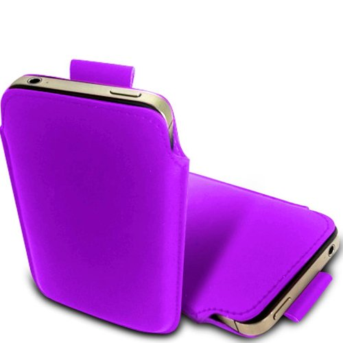 N E Fing Light Purple PU leather pull - Nokia Lumia N 900 Case