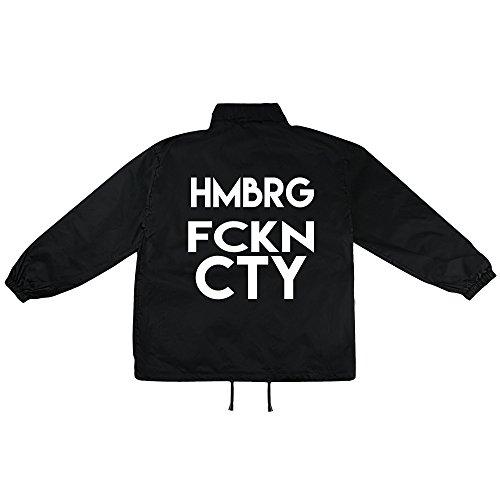 Hamburg City Motiv auf Windbreaker, Jacke, Regenjacke, Übergangsjacke, stylisches Modeaccessoire für HERREN, viele Sprüche und Designs