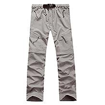 Lanbaosi Men's Outdoor Quick Dry Hiking Pants Convertible Cargo Shorts