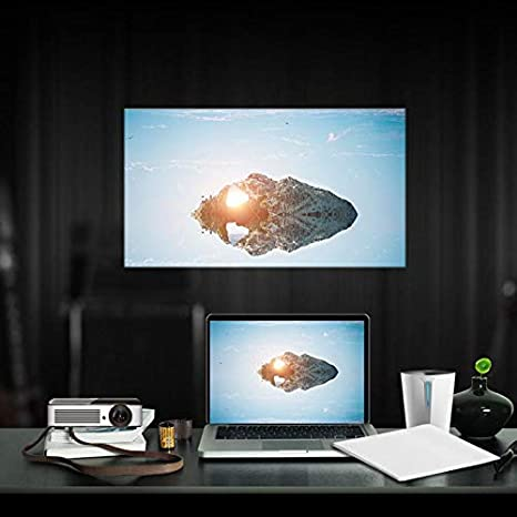 OSB STYLE 60-120 Pulgadas 16: 9 Pantalla del proyector Cine Blanco ...