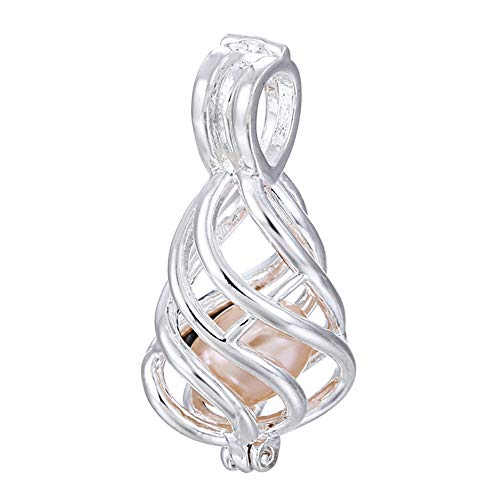 - 10pcs Silver Twist Water Drop Pearl Cage Beads Cage Locket Pendant DIY Jewelry Making Supplies-for Oyster Pearls, Essential Oil Diffuser, Fun Gifts (Twist Water Drop)