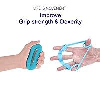 Yuboa Finger Strength Trainer for Forearm Exercise?Finger Stretcher for Guitar?Hand Exerciser set for Arthritis?Hand Grip Strengthener Rings for Rock Climbing,3 Level,6Pcs.