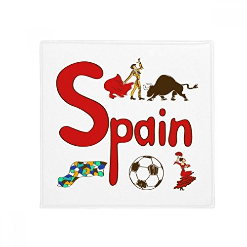 DIYthinker Spain National symbol Landmark Pattern Anti-slip Floor Pet Mat Square Bathroom Living Room Kitchen Door 60/50cm Gift by DIYthinker