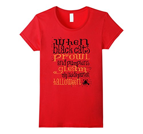 Womens Halloween Spooky Quotes Popular Halloween Costume Idea Large Red