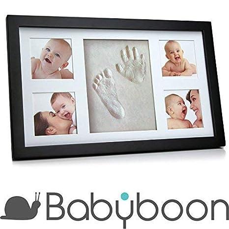Juego de portarretrato para huella de la mano y pisada de bebé de ® Babyboon. Paquete de 4 colores: Amazon.es: Bebé
